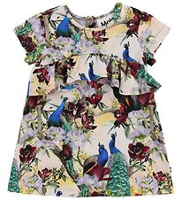 Molo Dress - Cloud - Oriental Peacocks