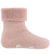 Fuzzies Baby Socks w. Anti-Slip - Powder