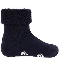 Fuzzies Baby Socks w. Anti-Slip - Navy