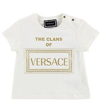 Versace T-shirt - White/Gold