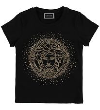 Versace T-shirt - Black/Gold Medusa
