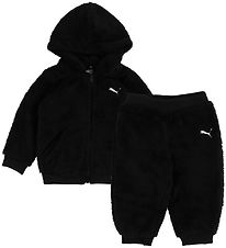 Puma Fleece Suit - Minicats Sherpa - Black