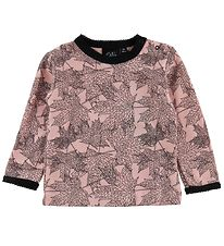 Petit by Sofie Schnoor T-shirt - Wool/Cotton - Powder w. Leaves