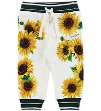 Dolce & Gabbana Sweatpants - Sunflower - White/Dark Green