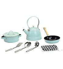 Vilac Kitchen Set - 7 pcs - Metal - Retro