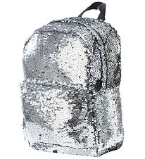 Spiral Backpack - Mini - Silver Sequins