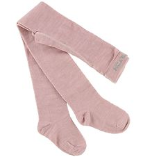 Melton Tights - Wool/Cotton - Rose Melange