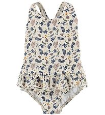 Liewood Swimsuit - Amara - UV50+ - Coral Floral Mix