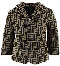 Fendi Blazer - Brown w. Logo