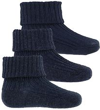 MP Socks - Wool/Cotton/Bamboo - 3-pack - Navy Melange