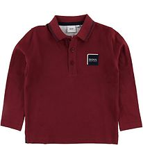 BOSS Polo Shirt - Crimson w. Logo