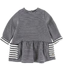 Petit Bateau Dress - Black Striped