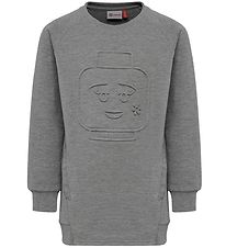 Lego Wear Sweatshirt - Thorne - Grey Melange w. Figurines