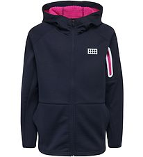 Lego Wear Zip Thru Hoodie w. Fleece - LWSimone - Navy