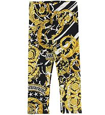 Versace Leggings - Black w. Gold Print