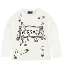 Versace Long Sleeve Top - Ivory w. Safety Pins