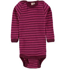 Engel Body L/S - Wool/Silk - Raspberry/Orchid