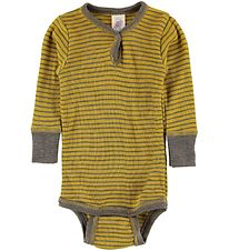 Engel Body L/S - Wool/Silk - Saffron/Walnut