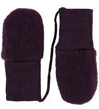 Engel Mittens - Wool - Melange Purple