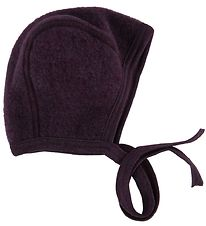 Engel Baby Hat - Wool - Melange Purple