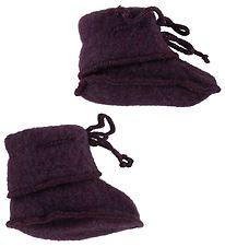 Engel Booties - Wool - Melange Purple