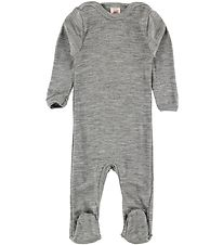 Engel Jumpsuit - Wool/Silk - Light Grey Melange
