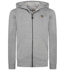 Lyle & Scott Junior Zip Thru Hoodie - Grey Melange