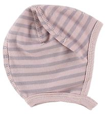 Joha Baby Hat - Wool/Cotton - Powder/Lavender Striped