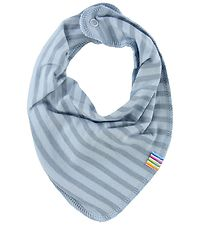 Joha Teething Bib - Wool/Cotton - Blue Striped