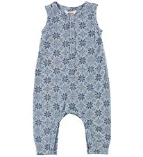 Joha Romper - Wool - Light Blue/Stars