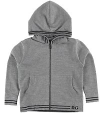 Dolce & Gabbana Zip Hoodie - Wool - DNA - Grey