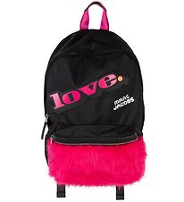 Little Marc Jacobs Backpack - Black/Pink w. Fake Fur