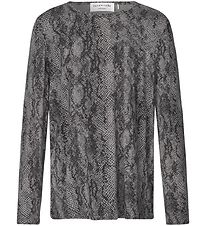 Rosemunde Long Sleeve Top - Grey Python