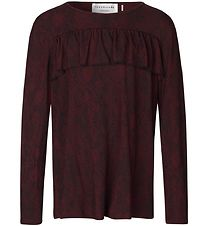 Rosemunde Long Sleeve Top - Soft Wine Python