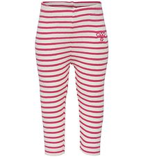 Hummel Leggings - HMLBalto - Pink Stripes