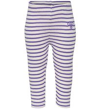 Hummel Leggings - HMLBalto - Purple Stripes