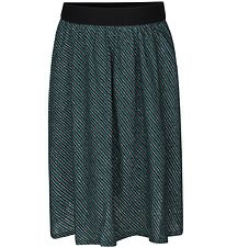 Mads Nørgaard Skirt - Sagalina - Dark Green w. Stripes/Glitter