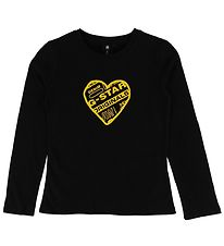 G-Star RAW Long Sleeve Top - Black w. Heart