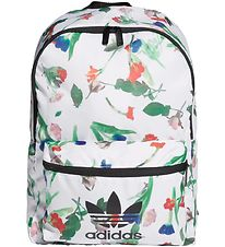 adidas Originals Backpack - Classic - White w. Flowers