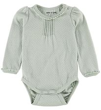 Mini A Ture Bodysuit l/s - Akeleje - Puritan Grey