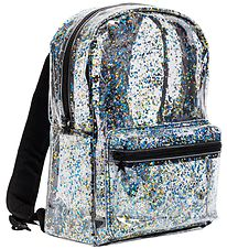 A Little Lovely Company Backpack - Transparent - Black/Glitter