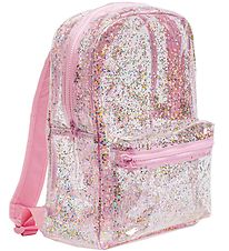A Little Lovely Company Backpack - Transparent - Pink/Glitter