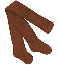 Melton Tights - Brown w. Pointelle