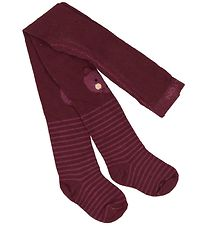 Melton Tights - Plum w. Mouse