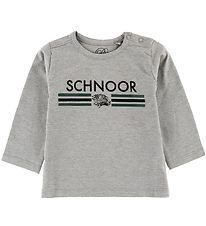 Petit by Sofie Schnoor Long Sleeve Top - Jersey - Grey/Green w.