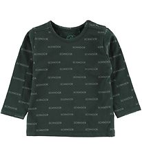 Petit by Sofie Schnoor Long Sleeve Top - Jersey - Green/Logos
