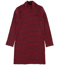 Tommy Hilfiger Dress w. Turtleneck - Navy/Red Striped
