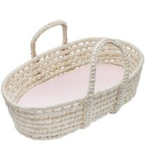 Sebra Doll's Lift - Moses Basket - Sunset Pink