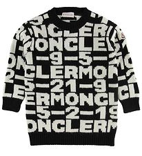Moncler Dress - Acrylic/Wool - Black/White w. Text