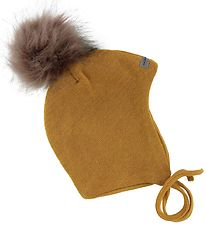 Racing Kids Baby Hat w. Pompom - Wool/Cotton - Double Layer - Mu